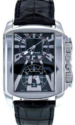 Chopard L.U.C 148468 Stainless Steel & Leather Black Dial Quartz 38mm Men's Watch