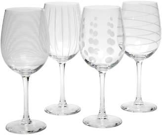 Mikasa Set Of 4 Cheers 15.89Oz White Wine Glasses