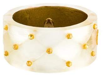 Alexis Bittar Quilted Lucite Bangle