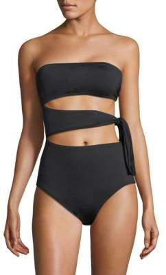 Proenza Schouler One-Piece Bandeau Swimsuit