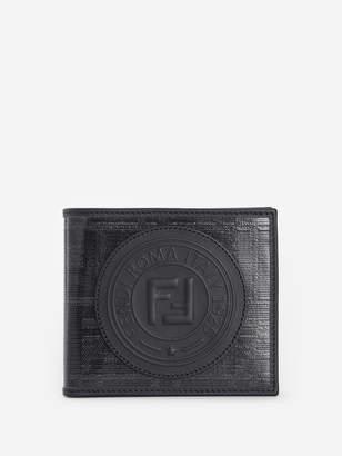 Fendi BLACK FABRIC BI-FOLD WALLET