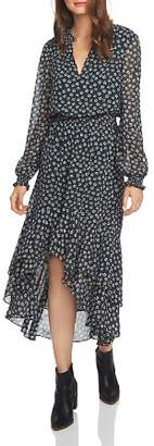 1 STATE 1.STATE Floral Print High/Low Dress