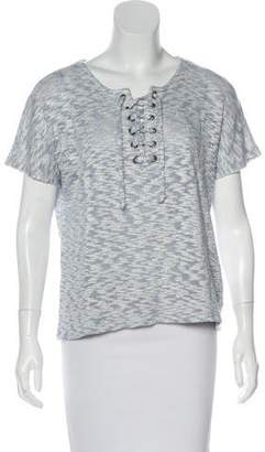 Kain Label Lace-Up Short Sleeve Top