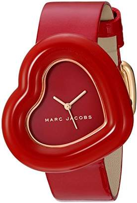 Marc Jacobs Women's 'The Heart' Quartz Stainless Steel and Leather Casual Watch