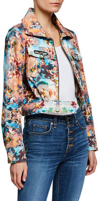Fiorucci Berty Printed Cropped Zip-Front Jacket
