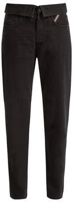 Jean Atelier - Flip Fold Over Jeans - Womens - Black