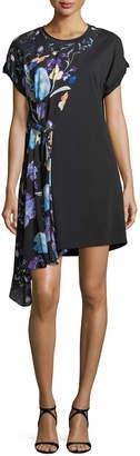 3.1 Phillip Lim Short-Sleeve Floral-Print Silk Dress