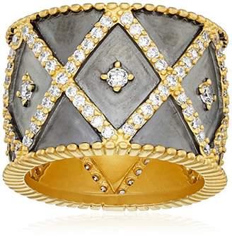 Freida Rothman Womens Signature Geo Stripe Cigar Band Ring