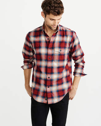 Abercrombie & Fitch Stretch Plaid Shirt