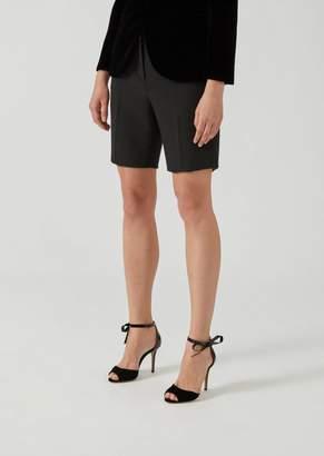 Emporio Armani Cady Bermuda Short With Pockets