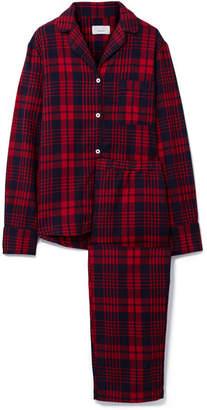 Three J NYC Etoile Checked Cotton-flannel Pajama Set - Red