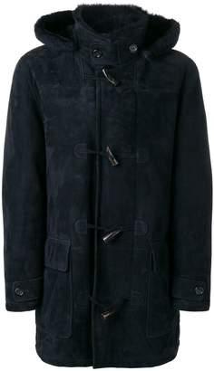 Liska leather duffle coat