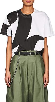 Comme des Garcons Junya Watanabe Women's Abstract-Print Cotton T-Shirt