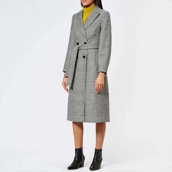 Women's Penelope Belted Check Coat