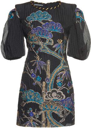 Alberta Ferretti Jacquard Short Dress