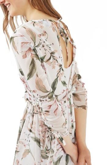Women's Topshop Lily Floral Mesh Dress 2