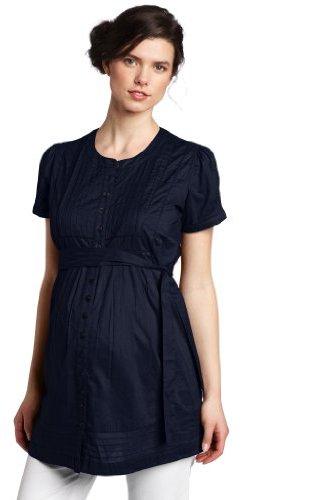 Ripe Maternity Women's Pintucked Short Sleeve Overshirt