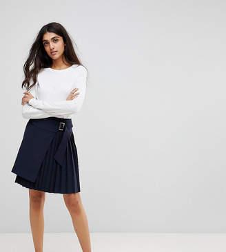 Asos Tall TALL Tailored Kilt Skirt with Asymmetric Wrap