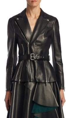 Alexander McQueen Leather Zip Jacket