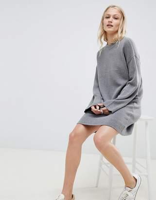 Asos Design DESIGN knitted mini dress in fluffy yarn