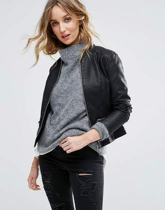 Vila Leather Look Jacket