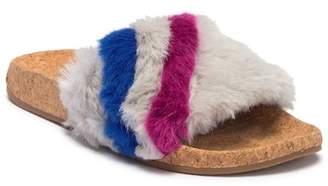 L4L Ace Faux Fur Slide Sandal