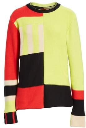 Eckhaus Latta Multistripe Cotton Sweater