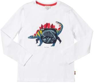 Paul Smith Dinosaur Print Cotton Jersey T-Shirt