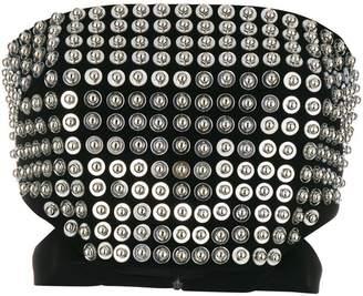 David Koma studded strapless top