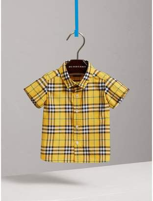 Burberry Short-sleeve Check Cotton Shirt