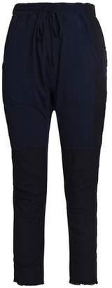 Haider Ackermann Patchwork Cropped Cotton-Twill Slim-Leg Pants