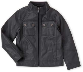 Urban Republic Boys 8-20) Grey Faux Leather Jacket