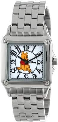 EWatchFactory Disney Women's W000468 Winnie the Pooh Perfect Square Bracelet Watch