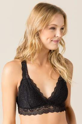 francesca's Remington Racer Back Lace Bralette - Black