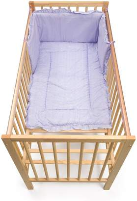 Junior Joy Embroidered Angle Cot Quilt and Bumper Set (Lilac)