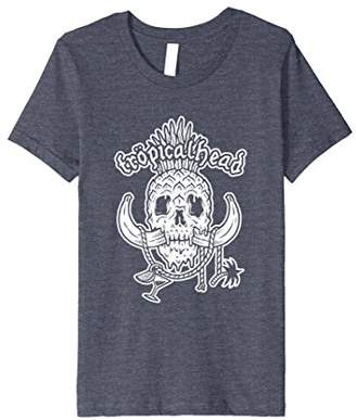 Tropical Pineapple Banana Skull T-Shirt Tropicalhead (RR)