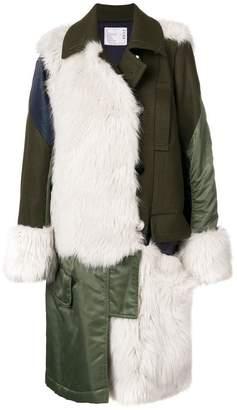 Sacai multi-panel coat