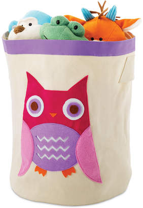 Whitmor Kids Canvas Cube Storage Bin, Pink Owl