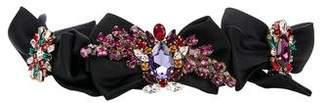 Dolce & Gabbana Bow & Crystal Waist Belt