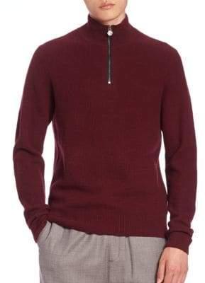 Kent & Curwen Half-Zip Mockneck Sweater
