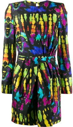 DSQUARED2 tie-dye mini dress