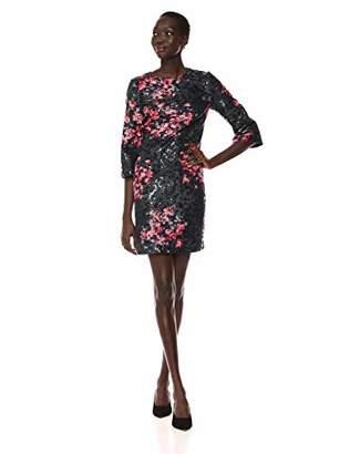 Trina Turk Trina Women's Grenadine 3/4 Sleeve Embellished Dress
