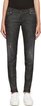 Dsquared2 Black Distressed Skinny Jeans $515 thestylecure.com