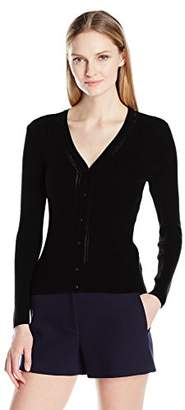 Ellen Tracy Women's Size V-Neck Pointelle Cardigan