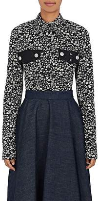 Calvin Klein Women's Daisy-Print Cotton Gabardine Shirt