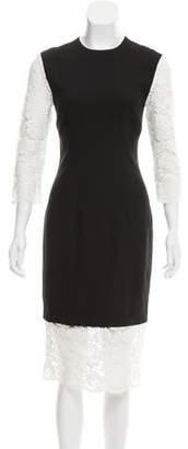 Nha Khanh Lace-Trimmed Sheath Dress