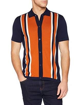 Ben Sherman Men's Button Through Mod Polo Shirt