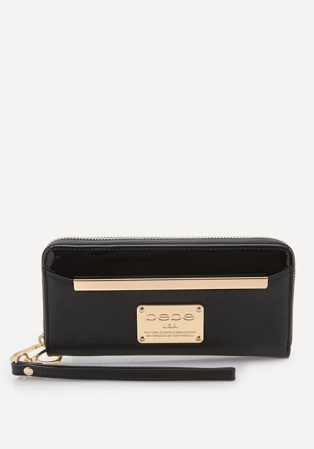Goldtone Hardware Wristlet