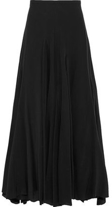 Haider Ackermann Pleated Silk Maxi Skirt