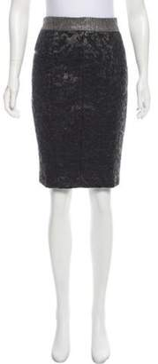 Proenza Schouler Jacquard Pencil Skirt Grey Jacquard Pencil Skirt